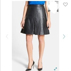 Classiques Entier genuine Leather pleated Skirt